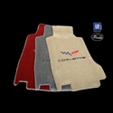 Corvette Floor Mats - C6 Emblem and Corvette Script : 2005-2007 Early (Post Syle Anchor)
