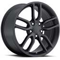 C7 Corvette Z51 Style Wheels (Set) : Satin Black 19x8.5/20x10 2005-2014 C6 & C7