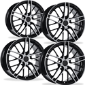 Corvette Wheel - 2009 ZR1 Style Reproduction (Set) : Black with Machined Face