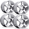1994 ZR1 Style Corvette Wheels (Set) : Chrome 17x9.5/17x9.5 1984-1996 C4