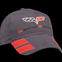 Corvette Grand Sport Hat Brushed Twill - Grey : 2010-2013
