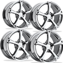 Corvette Wheel - 2010 Grand Sport Style Reproduction - Chrome : 1997-2013 C5,C6,Z06,Grand Sport