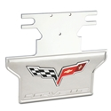 Corvette Exhaust Plate - Billet Chrome with C6 Logo : 2005-2013 C6 Non-NPP