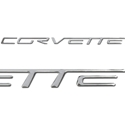 Corvette Air Bag Insert Lettering - Raised (Set) : 2005-2013 C6, Z06, ZR1, Grand Sport