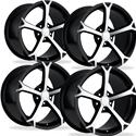 Corvette Grand Sport Wheel Black W/Machined Spokes 17x8.5 56mm Offset: 1988-2004