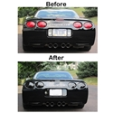 Corvette Rear Reverse, 3rd Brake, Taillight Acrylic Blackout 7 Pc. Kit : 1997-2004 C5 & Z06