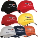 Corvette Hat - Exterior Color Matched with C6 Logo : 2005-2013 C6