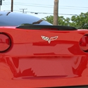 Corvette Rear Spoiler - Brake Light Housing Z06 Style : 2005-2013 C6, Z06, ZR1, Grand Sport