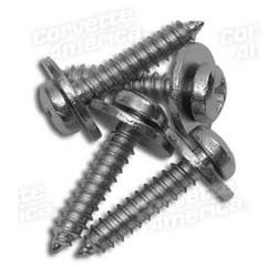 Corvette Door Panel Screw Set. Upper - 4 Piece: 1978-1982