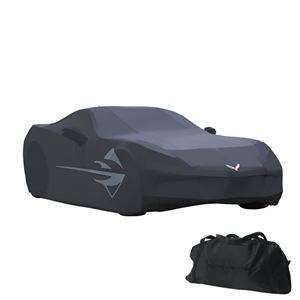 2014+, Corvette Car Cover w/C7 Flags & Stingray Logo - Outdoor : C7 Stingray