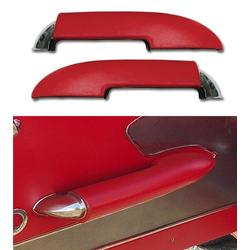 Corvette Armrests. With Chrome End Red: 1959-1961