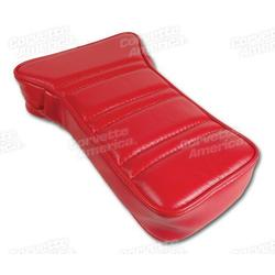 Corvette Center Armrest. Red Leather: 1972