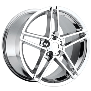 Corvette Chrome Wheel Exchange GM (Set) 18x9.5/19x12 : 2006-2008 Z06