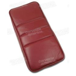 Corvette Center Armrest. Red Leather: 1984-1985