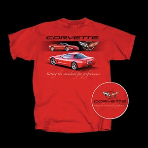 Corvette T-Shirt Setting The Standards : Red