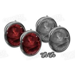Corvette Taillights. W/Backup Lights 4 Piece Set (Trim Parts): 1963-1966