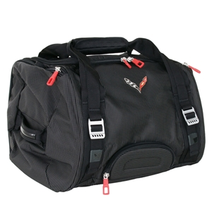 Corvette Stingray Duffle Bag with C7 Cross Flags Logo : 2014+ C7