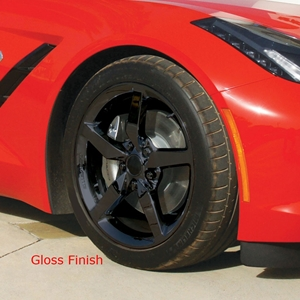 Corvette Powder Coated Black Wheel Exchange - Standard - Front and Rear 18/19 inch: 2014 C7