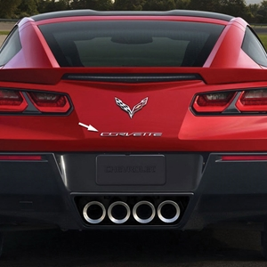 2014, 2015, 2016, 2017,  C7 Corvette Stingray, Z51, Z06 Chrome Rear Letters