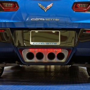 2014 C7 Corvette Stingray Perforated Exhaust Port Filler Panel