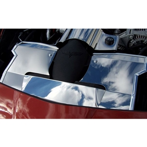 Corvette Radiator Cover - Polished Stainless Steel : 2005-2007 C6 LS2 only