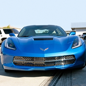 2014 C7 Corvette Stingray Front Grille Stainless Steel Overlay