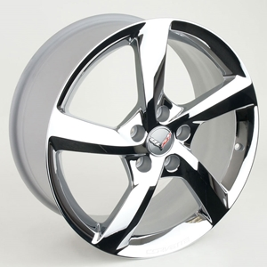 2014 C7 Corvette Stingray GM 5-Spoke : Chrome Wheel Exchange - Front and Rear 19/20 inch: 2014 C7