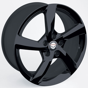 2014 C7 Corvette Stingray GM 5-Spoke : Black Chrome Wheel Exchange - Front and Rear 19/20 inch: 2014 C7