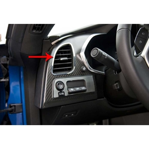 2014, 2015, 2016, 2017 C7 Corvette Stingray, Z51, Z06, Grand Sport Dash A/C Vent Trim 2Pc Polished