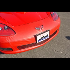 Corvette Bra - Speed Lingerie Color Matched With License Plate Pocket : 2005-2013 C6