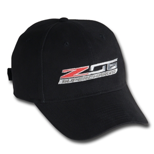 2015, 2016, 2017 C7 Corvette Stingray - Z06 Supercharged Logo Cap : Black