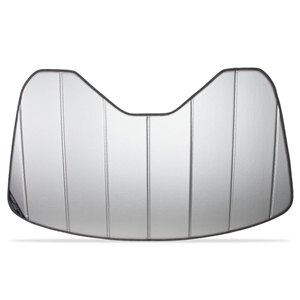 C7 Corvette Stingray , Z51, Z06 Grand Sport Accordion Style Sunshade - Insulated Plain Silver