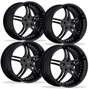 Corvette Custom Wheels - WCC 946 EXT Forged Series (Set) : Gloss Black