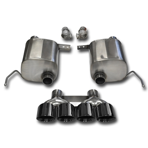 "2014,2015,2016,2017,Corvette CORSA Xtreme Valve-Back Performance Exhaust System - Quad 4.50"" Round Black Tips : C7 Stingray, Z51"