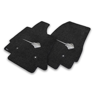 2014, 2015, 2016, 2017, C7 Corvette Stingray Floor Mats - Lloyds Mats with Stingray Emblem : Black or Dark Grey