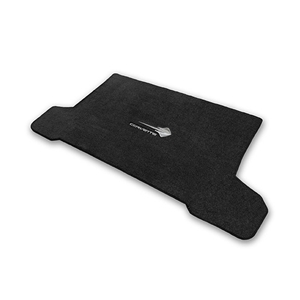 2014, 2015, 2016, 2017 C7 Corvette Stingray Cargo Mat Convertible - Lloyds Mats with Stingray Emblem & Corvette Script : Black, Dark Grey
