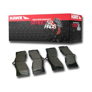 Corvette Brake Pads - Front/Rear Hawk High Performance Street 5.0 - 2 Required: 1966-1982