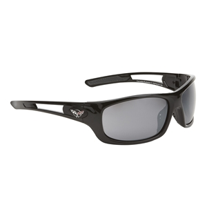 Corvette Sunglasses - Full Frame Gloss Black : C5 Logo