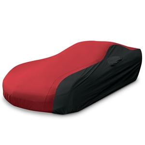 Corvette Ultraguard Plus Car Cover - Indoor/Outdoor Protection : Red/Black - 2005-2013 C6, Z06, ZR1, Grand Sport