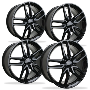 2014 C7 Corvette Z51 Style Reproduction Wheels (Set) : Gloss Black