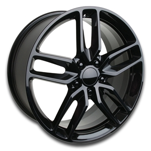 2014 C7 Corvette Z51 Style Reproduction Wheels : Gloss Black
