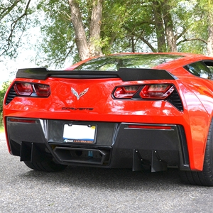 2014,2015,2016,2017, C7 Corvette Stingray Rear Diffuser - Carbon Fiber Katech