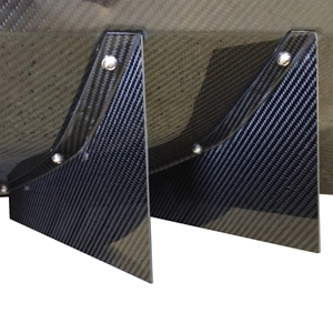 2014,2015,2016,2017, C7 Corvette Stingray Rear Diffuser - Strake only - Carbon Fiber Katech