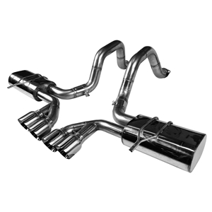 "Corvette Exhaust System - Kooks Axle-Back OEM x 2-1/2"" with Quad 4"" Round Tips : 1997-2004 C5 & Z06ip"