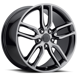 C7 Corvette Z51 Style Reproduction Wheels : Black Chrome