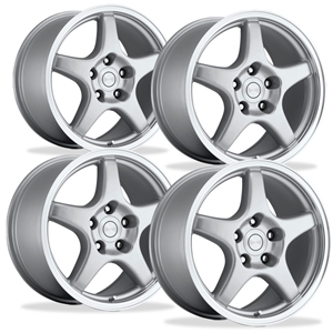 Corvette Wheels - C4 ZR1 / Collector Edition Style Reproduction (Set) : Silver