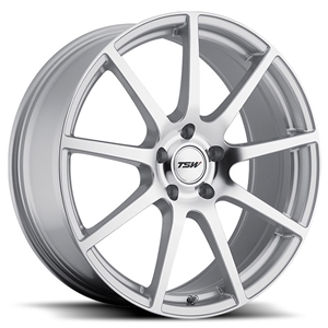 Corvette Wheels - TSW Interlagos : Silver with Mirror Cut