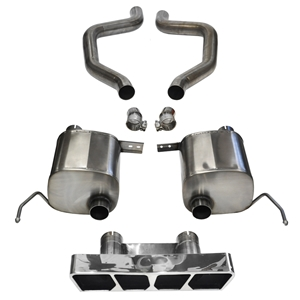 C7 Corvette Z06 Exhaust - CORSA Xtreme  Axle-Back Performance Exhaust System : Polished Poly Tip