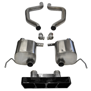 C7 Corvette Z06 Exhaust - CORSA SPORT Axle-Back Performance Exhaust System : Black Poly Tip