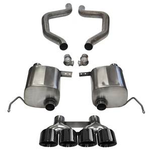 "C7 Corvette Z06 Exhaust - CORSA SPORT Axle-Back Performance Exhaust System : Quad 4.50"" Round Black Tips 2015"